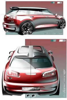 Sketches we like / Digital Sketch /Transpportational / MINI Clubman Concept Design Sketch