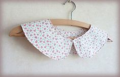 Pretty Red Floral Peter Pan Collar by franceyscorner on Etsy, £22.00