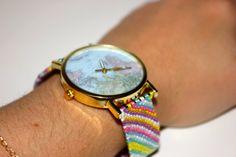 Friendship Bracelet Watch by SugaPlums on Etsy, $25.00