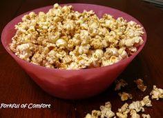 Forkful of Comfort: Cinnamon Sugar Popcorn