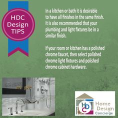 Home Design Concierge Design Tip - Be consistent.