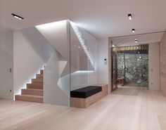 Gallery of PF Single Family House / Burnazzi Feltrin Architects 18 Modern Staircase Architects Burnazzi Family Feltrin Gallery House single Interior Design Software, Modern Interior Design, Studio Interior, Modern Staircase, Staircase Design, House Stairs, Wood Stairs, Interior Architecture, Ancient Architecture