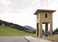 Sou Fujimoto, Smiljan Radic and Wang Shu are among seven international architects invited to design bus stops for a tiny Austrian village in exchange for a holiday there