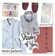 """""""After Dark: Moto Jackets"""" by rosewoodcases ❤ liked on Polyvore featuring Rebecca Taylor, House of Cases and Keds"""