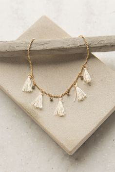 Warm Suns Anklet in White