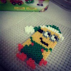 Christmas Minion hama beads by rayannp96