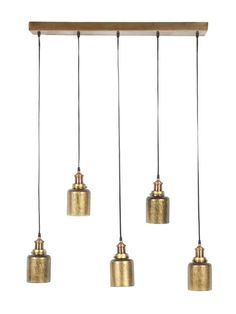 LINEAR PENDANT-ANTIQUED GOLD MERCURY by Four Hands at Gilt