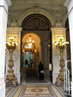 Westin Paris - totally recommend!  I felt famous for a brief moment as I walked through this door the first time...