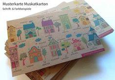 wunderschöne Papier-Musterkollektion von Online Druckerei extraprint