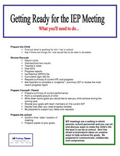 a profile of a student for a mock iep meeting Of iep meeting leadership, and those results generalized from mock to actual iep meetings using a random assignment experimental control and intervention group design, martin, van.