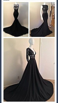 dress prom dress mermaid black mermaid dress black dresses gowns