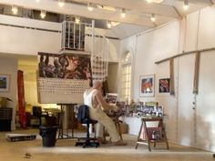 Miniature Sculptures Of Artists In Their Studios by Joe Fig