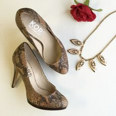 Gorgeous Snake print high heels shoes pumps  Excellent condition, worn only 3 times :) From Michael kors Michael Kors Shoes Heels