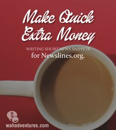 Earn a dollar for each short news snippet you write at Newslines.org