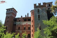Castello di Rovasenda, in the medieval village of Rovasenda. The castle was built in the 12th century out of characteristic red brick. In Alto Piemonte http://www.winepassitaly.it/index.php/en/travel-wineries-piedmont/maps-and-wine-zones/alto-piemonte/itinerary/along-rice-paddies-of-northern-piedmont#!prettyPhoto