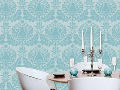i love these stencils-can come up with tons of different color combinations, for furniture too.