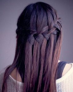 i love the waterfall braid if only i could do this on myself! :D #hair #style #hairstyle #color #haircolor #colorful #women #girl #style #trend #fashion #long #braid #natural