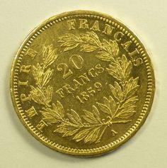 France 1859 20 Francs Gold
