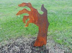 Rusty Zombie Hand / Halloween Zombie / Zombie Garden Art /