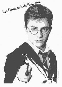 Grille point de Harry Potter 150 X219 points : Broderie par les-fantaisie-s-de-sandrine