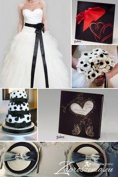 Zaproszenia ślubne w odmiennej, czarnej wersji dostępne na zaproszenia.eu