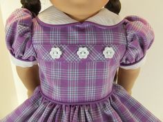 Lavender Plaid dress for American Girl doll Molly by agseamstress