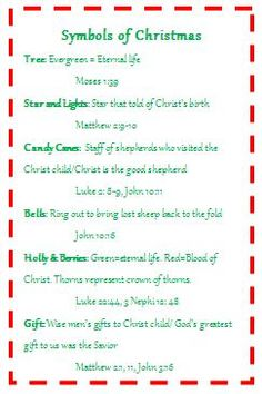I will be teaching the children at my church about the symbols of Christmas on Sunday. Source by Christmas Program, Christmas Poems, Meaning Of Christmas, 12 Days Of Christmas, Christmas Activities, A Christmas Story, Christmas Printables, Christmas Traditions, Christmas Holidays