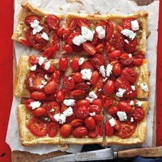 Two types of tomatoes create twice the flavor in this savory tart!