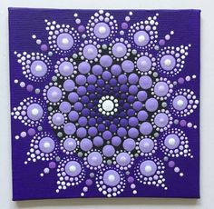 Acrylmalerei - Mandala Punktetechnik lila - ein Designerstück von Shivajyoti bei DaWanda