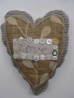 Love heart---think this is great ornament idea, use different words like joy, peace, etc