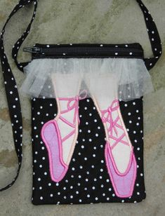 In The Hoop :: Purses & Wristlets :: Ballet Shoe Purse - Embroidery Garden In the Hoop Machine Embroidery Designs