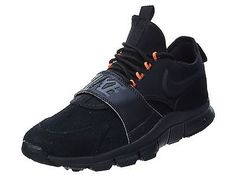 Nike Free Ace Lthr Mens 749627-001 Black Orange Athletic Training Shoes Size 8.5