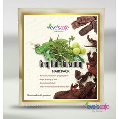 evescafe Is grey hair bothering you? Do you want to go with natural treatment to cure & Prevent premature greying.. Here, you have the wonderful herbal treatment go with!! This natural remedy improves melanin formation and darkens hair color. you don't have to use chemical rich hair dye anymore! Visit - http://www.evescafe.in/shop/hair-care/33-evescafe-grey-hair-darkening-hair-pack.html