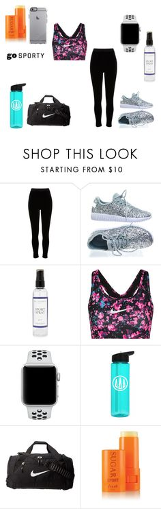 """""""sporty generation 1"""" by baylissreb ❤ liked on Polyvore featuring River Island, Forever Link, The Laundress, NIKE and Fresh"""