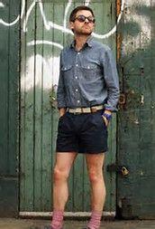 Man Skirt, Dress Skirt, Denim Button Up, Button Up Shirts, Boys Wearing Skirts, Rock, Modern Man, Short Skirts, Men Dress