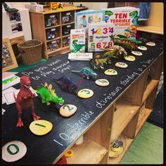 Number Display Eyfs, Maths Display, Maths Eyfs, Numeracy, Dinosaur Activities, Dinosaur Crafts, Dinosaurs Eyfs, Dramatic Play Centers, Dinosaur Coloring
