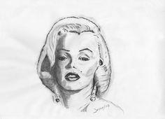 Marilyn <3 matita/carboncino di Signori Gessica