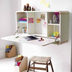 Not sure I'd be tidy enough to fold desk back up at the end of the day...
