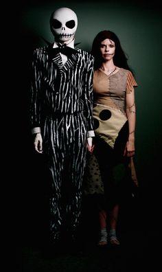 Esta pareja espeluznante que dio un paso hacia fuera de la tierra de Halloween.