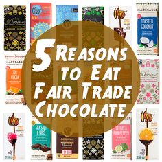 Here are 5 reason to eat fair trade chocolate, including the lack of child labor, protection of the planet, and of course, it tastes great! #halloweenchocolate