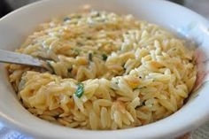 Orzo, the most underrated of pastas. With parmesan and basil.