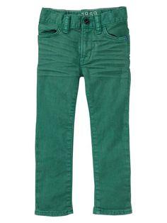 GAP Toddler Boy green skinny jeans (R203)