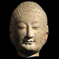 Limestone Head of the Buddha >>> FOR SALE ON THE CURATOR'S EYE
