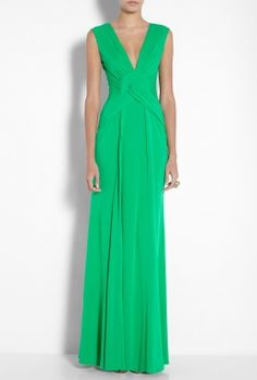 I have fallen in love with this Pleat Waist Crepe Maxi Dress by Issa