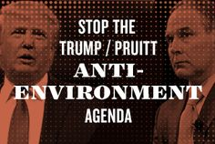 """US, 2017 - Trump attacks clean car standards - """"President Trump just directed his pro-polluter EPA Administrator Scott Pruitt to start rolling back clean car standards — critical limits that would cut climate pollution and save consumers billions of dollars on gas. On top of that, President Trump has proposed massive new EPA budget and staff cuts that will decimate the agency's ability to do its job tackling climate change, ensuring clean air and clean drinking water, and enforcing..."""""""