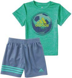 584076d1e adidas Baby Boy Defender Athletic Ball Graphic Tee & Shorts Set Adidas Baby,  My Boys