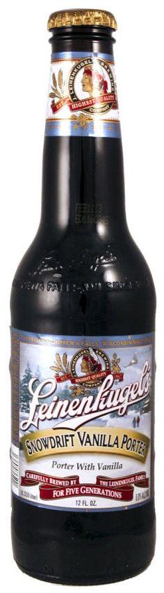 Leinenkugels Snowdrift Vanilla Porter - Porter $7.99 - I'm a sucker for labeling and this is a lovely wintertime beer.