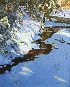<3 Peter Fiore Landscape Painting | Snow Art