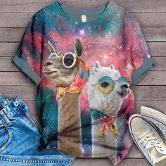 Alpaca Shirt Bird Shirt, T Shirt, Cool Outfits, Tie Dye, Lovers, Prints, Clothes, Women, Fashion