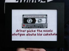 Driver picks the music  Supernatural cross by studionerdsoup